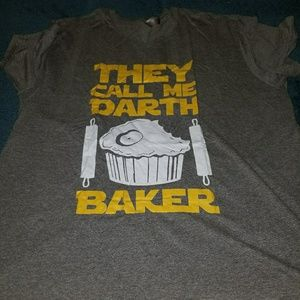 "Star Wars themed ""They call me Darth Baker"" tee"